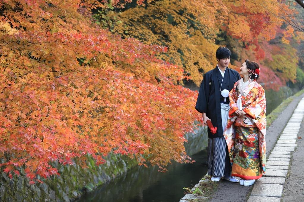 秋の紅葉<br>ロケーション<br>フォト